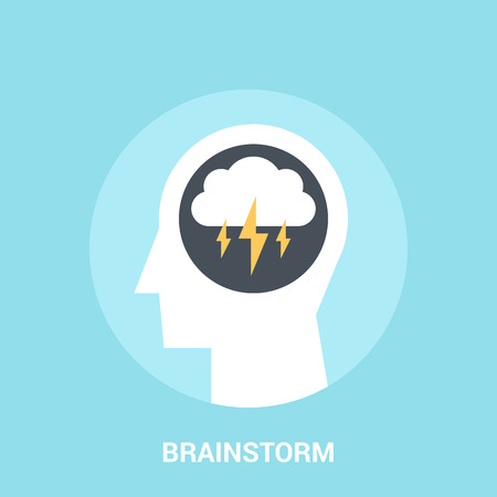 bad weather: Abstract vector illustration of brainstorm icon concept