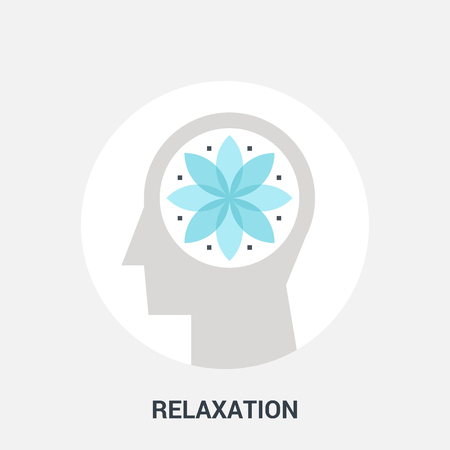 relaxation: Abstract vector illustration of relaxation icon concept
