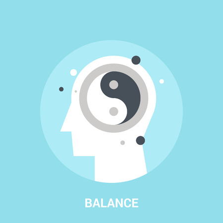 hysteria: Abstract vector illustration of balance icon concept Illustration