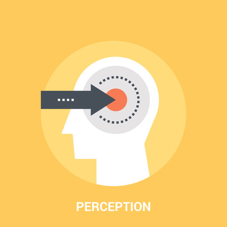Abstract vector illustration of perception icon concept Çizim
