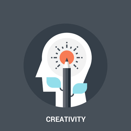 creativity concept: Abstract vector illustration of creativity icon concept