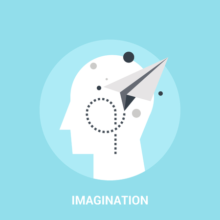 Abstract vector illustration of imagination icon concept