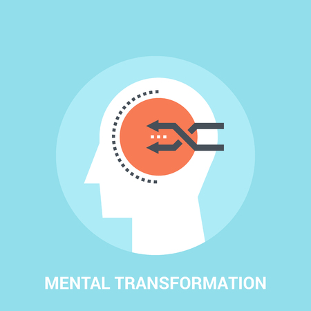 shuffle: Abstract vector illustration of mental transformation icon concept