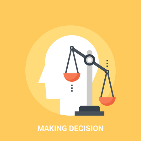 Abstract vector illustration of making decision icon concept Illustration