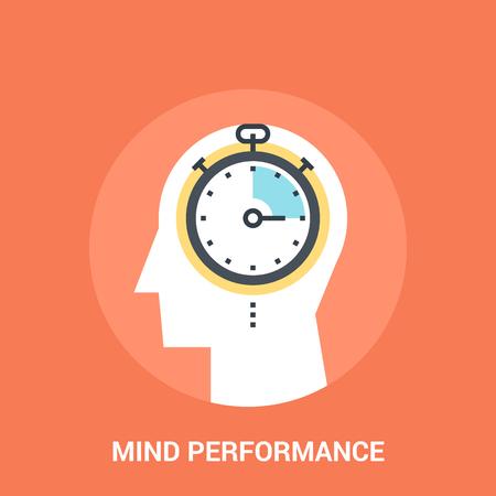 brain illustration: Abstract vector illustration of mind performance icon concept Illustration