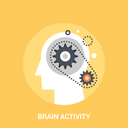 Abstract vector illustration of brain activity icon concept Illustration