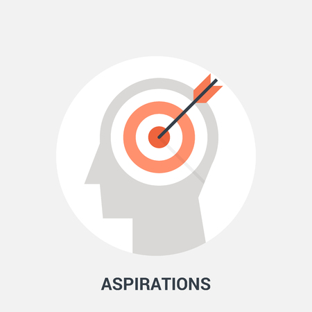 Abstract vector illustration of aspirations icon concept