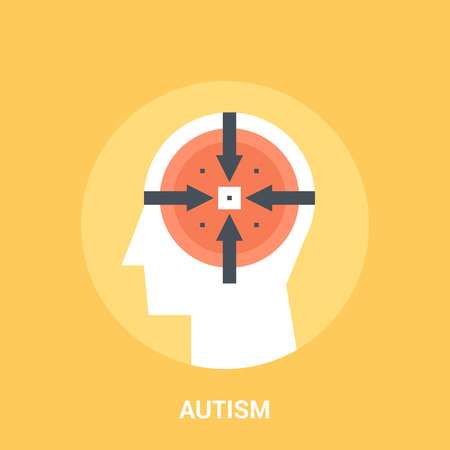 Abstract vector illustration of autism icon concept