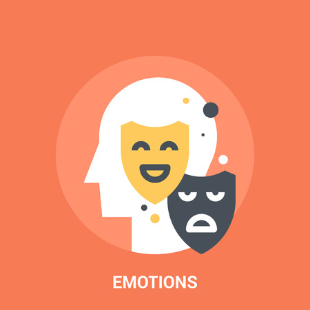 Abstract vector illustration of emotions icon concept Illustration