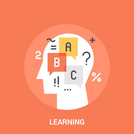 Abstract vector illustration of learning icon concept