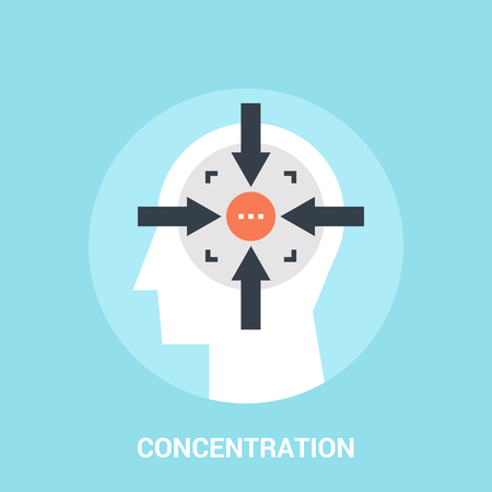 Abstract vector illustration of concentration icon concept