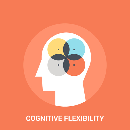 personality development: Abstract vector illustration of cognitive flexibility icon concept