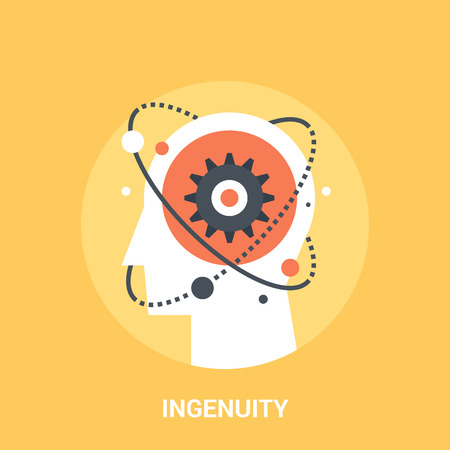 ingenuity: Abstract vector illustration of ingenuity icon concept Illustration