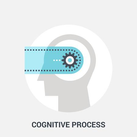 personality development: Abstract vector illustration of cognitive process icon concept