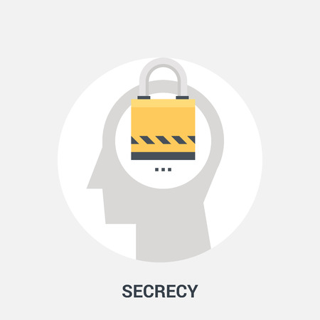 secrecy: Abstract vector illustration of secrecy icon concept
