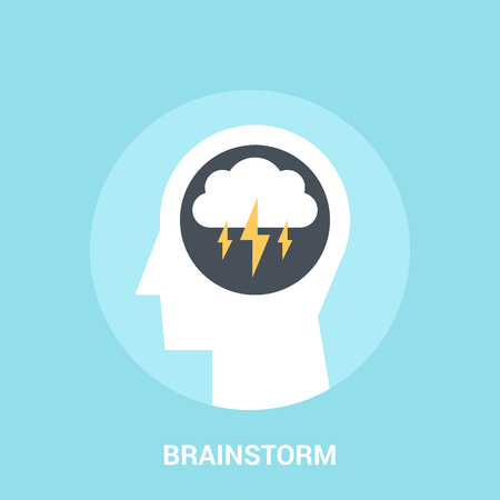 Abstract vector illustration of brainstorm icon concept