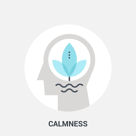 calmness: Abstract vector illustration of calmness icon concept