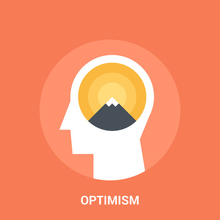 optimismo: concepto del icono de optimismo