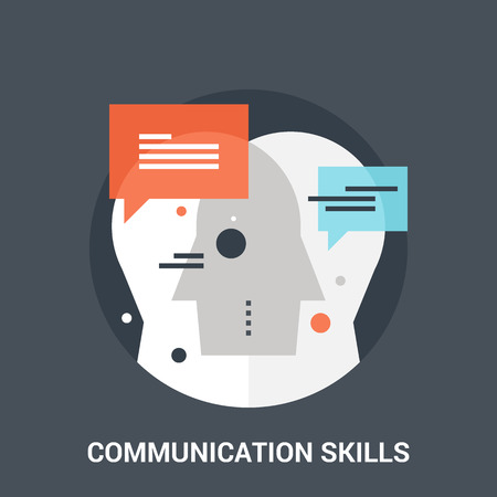 communication: communication skills icon concept