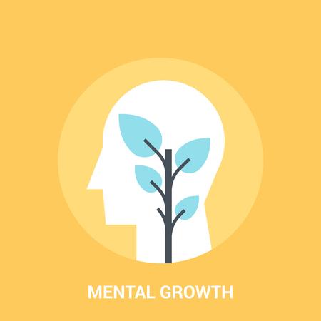 personalidad: Concepto de icono de crecimiento mental