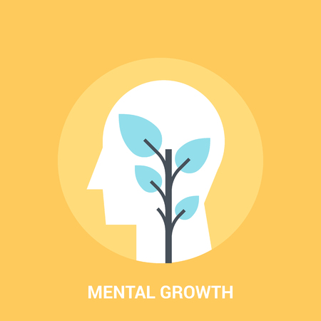 hysteria: mental growth icon concept Stock Photo