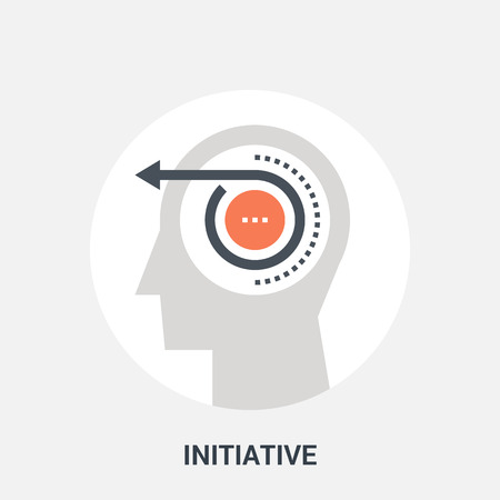personality development: Abstract vector illustration of initiative icon concept