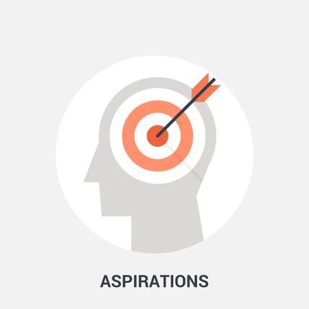 aspirations icon concept Stock Photo