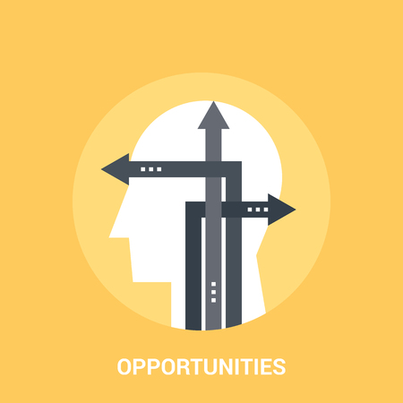 opportunities icon concept Stock Photo