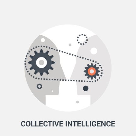 personality development: collective intelligence icon concept