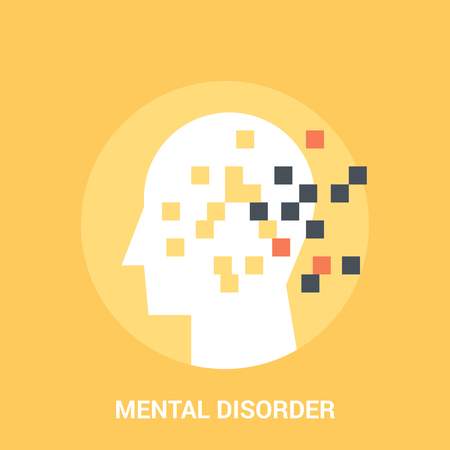 mental disorder icon concept