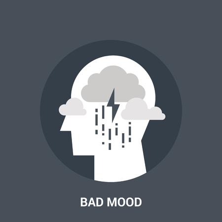 bad mood: bad mood icon concept