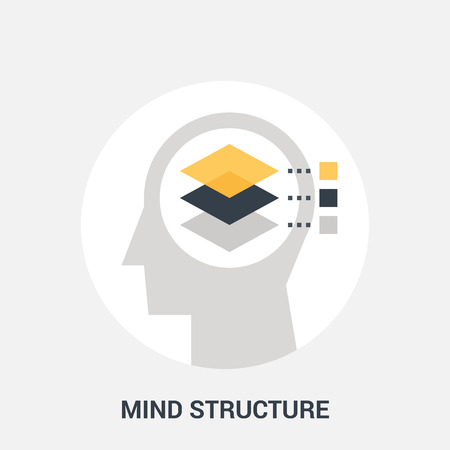 personality development: mind structure icon concept Illustration