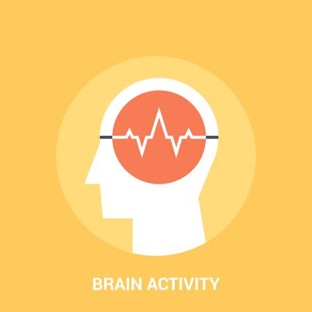 brain activity icon concept