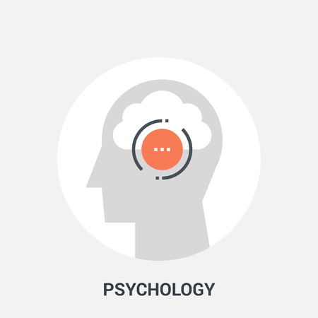 clouds: psychology icon concept Illustration