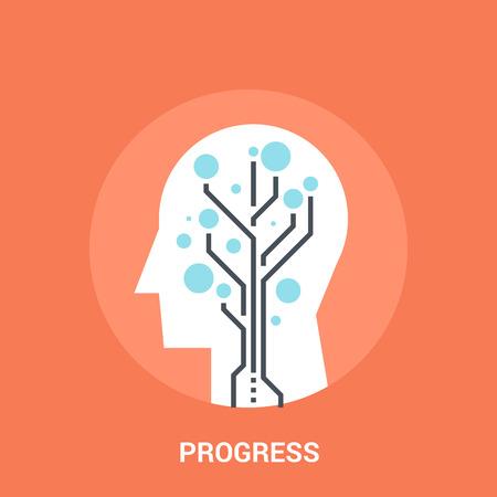 progress icon concept