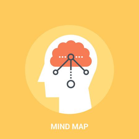 personality development: mind map icon concept Illustration