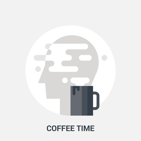 coffee time icon concept Illustration
