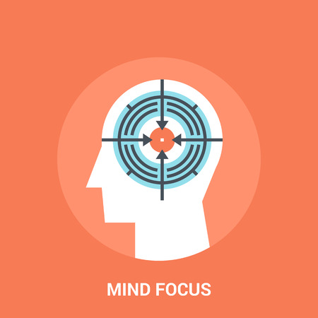 mind focus icon concept