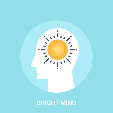 bright mind icon concept