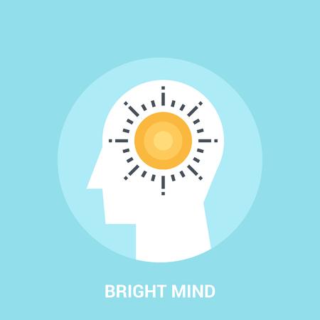 bright mind icon concept