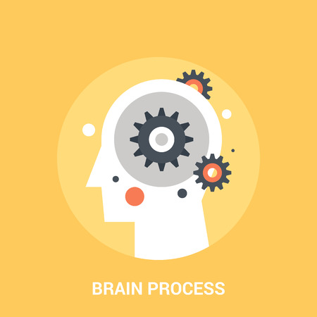 brain process icon concept