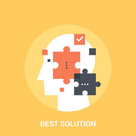 percepción: Mejor solución icon concepto Vectores