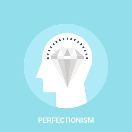 perfectionism icon concept Stock Illustratie