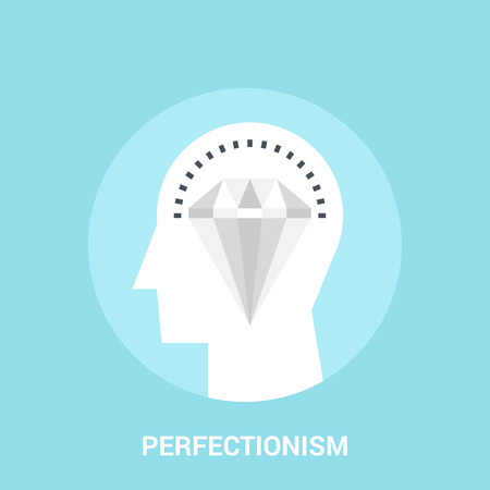 perfectionism icon concept Illustration