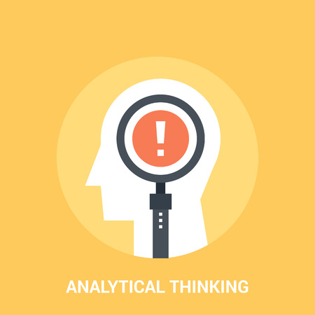 analytical: analytical thinking icon concept
