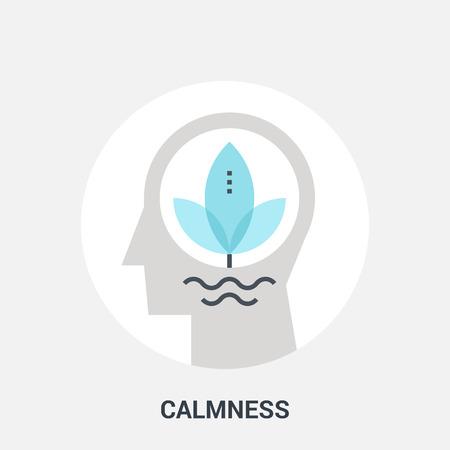 calmness: calmness icon concept