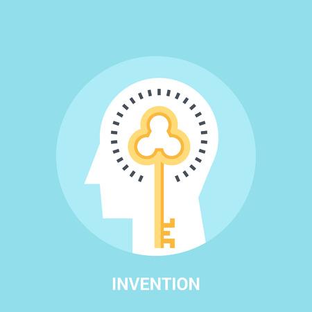 percepción: concepto de icono de invención Foto de archivo