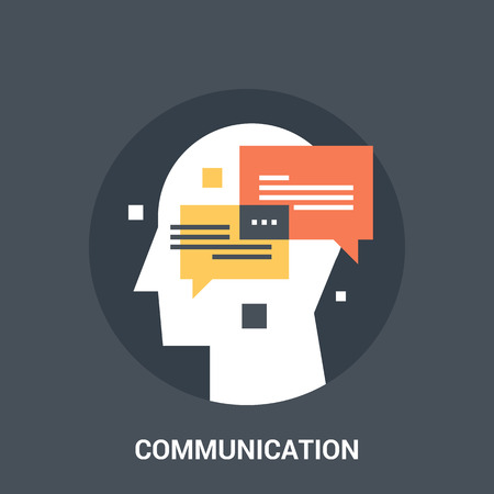 personality development: communication icon concept