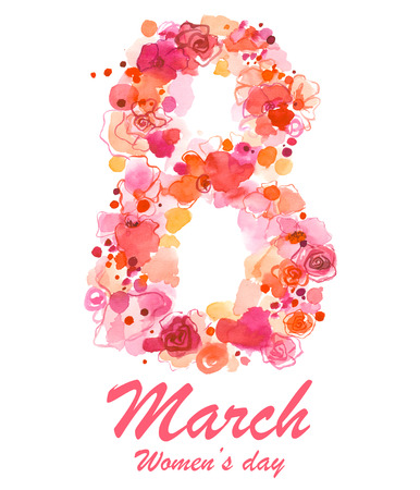 8 March holiday illustration