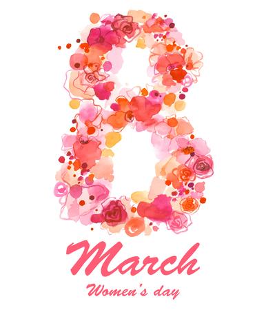 8. März Urlaub Illustration